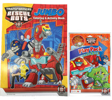Transformers Rescue Bots Coloring Book And Play Pack Red ...