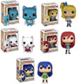 Funko Pop! Animation Fairy Tail Happy, Carla, Lucy, Ezra Scarlet, Wendy Marvell Vinyl Figure Toys.