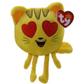 "TY Beanie Babies Emoji Cat w/ Heart Eyes 6"" Inch Small Plush"