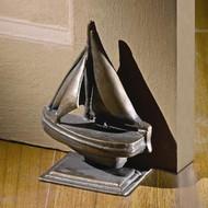 Brass Sailboat Doorstop