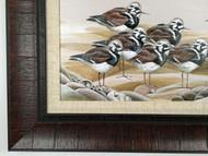 "Sandpipers Meeting! Large Framed artwork 42.5"" x 19"""
