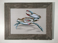 "Blue Crab Framed Art 19"" x 15"""