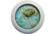 Sea Turtle Metal Wall Clock