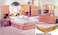 Coronado Wall Unit, shown with bed, dressers
