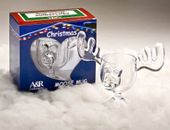 High quality ONE PIECE Custom Made Acrylic Moose Mugs. Made of lightweight, crystal clear acrylic, which is far superior to plastic with the added benefits of being a stronger and much safer alternative to glass.  These are the ONLY ONE PIECE moose mugs on the market with 8 ounce capacity.  All others have glued on antler ears and are much smaller in size and capacity.