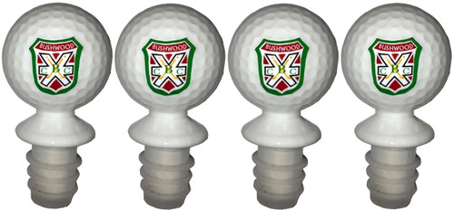 These Bushwood BCC bottle stoppers are the same size and look just like an actual golf ball.