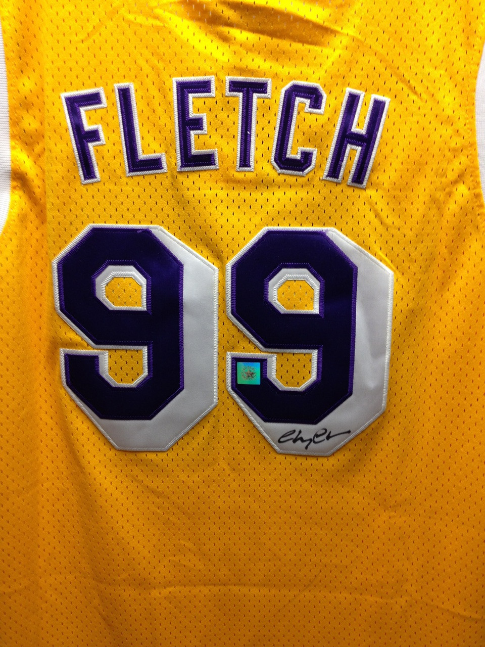 7045a1fcc Chevy Chase Signed NBA Los Angeles Lakers  99 Fletch Basketball Jersey
