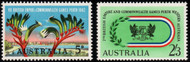 Australia View of Perth and Kangaroo Paw and Arms of Perth Scott 349-350 MNH Set of 2 Stamps