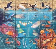 Christmas Island 1998 Marine Life Sheet of 20 Stamps MNH