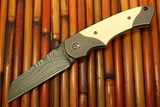 "Fellhoelter / Kelly ""Confluence"" With Westinghouse Micarta & Stellite Core San Mai Blade"