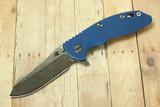 """Hinderer XM-18 3-1/2"""" Skinner Flipper Blue"""
