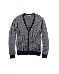 Two-tone Grey Button-up Cardigan