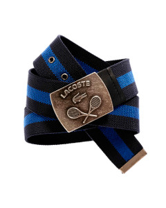 Lacoste Blue & Black Canvas Belt