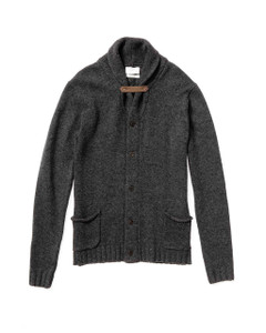 Shawl Neck Dark Grey Sweater