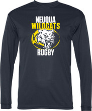 Long Sleeve Performance T with two color screen printed logo.