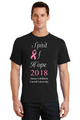 Black Tshirt with White Print and Pink Glitter