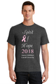 Charcoal Heather Tshirt with White print and Pink Glitter