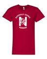 Naperville Redskins Ladies Short Sleeve Shirt Red