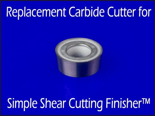 Replacement carbide insert or cutter for Simple Shear Cutting Finisher Wood Lathe Tool