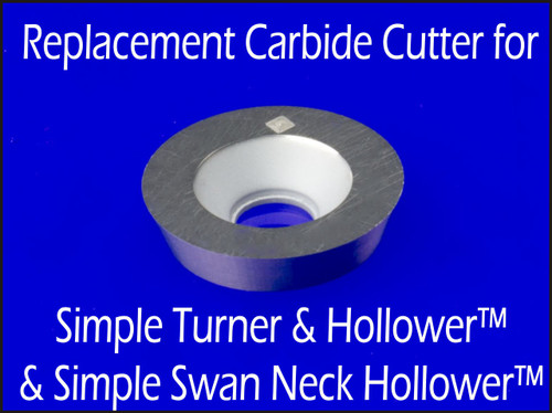 Replacement carbide cutter for STH & SSNH Woodturning Tools.