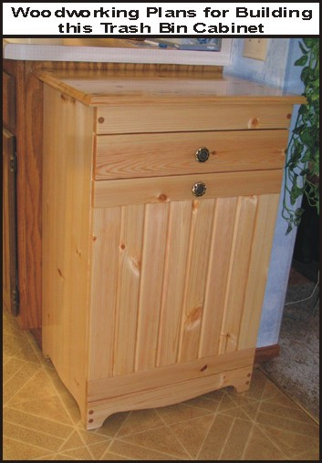 wood trash bin plans