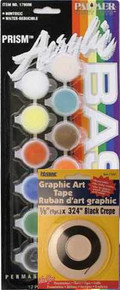 Your paint set includes graphic art tape to make nice clean lines between the paint bands