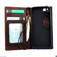 genuine vintage leather case for iphone 5 s SE stand book wallet credit card 5s itsl free shipping