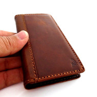 genuine vintage leather case for iphone 5 s stand book wallet credit card 5s sls free shipping