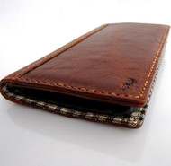 genuine real leather vintage Case for HTC ONE book wallet handmade m7 skin slim