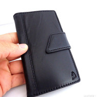 genuine real leather vintage Case for HTC ONE book wallet handmade m7 slim htcm7