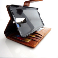 genuine vintage leather Case for LG G2 slim book pro wallet handmade MAGNET close