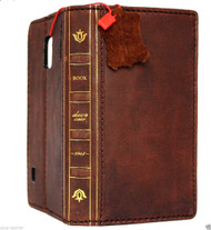 genuine vintage leather case fit samsung galaxy s5 cover purse book pro wallet stand Daviscase 1948