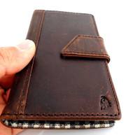 genuine real leather Case for HTC ONE book wallet handmade ID m7 skin slim retro