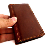 genuine 100% leather Case fit Samsung Galaxy S4 Mini I9190 s 4 book wallet slim free shipping