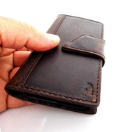 genuine real leather Case fit Samsung Galaxy S4 Mini I9190 s 4 book wallet slim free shipping