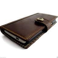 Genuine 100% leathe Case for HTC ONE book wallet handmade m7 skin brown new IL