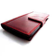 genuine leather case for htc one m8 cover purse book pro wallet stand m 8 flip red wine free shipping