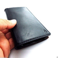genuine leather case for htc one m8 cover purse book pro wallet stand m 8 flip black free shippin