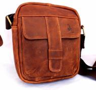 genuine vintage Leather Bag Messenger for iPad mini air 4 croos bogey soft