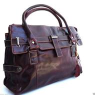 Genuine leather woman bag Tote Hobo Handbag Shoulder Messenger Purse Satchel brown wine