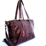 Genuine leather woman bag Tote Hobo Handbag Shoulder Messenger Purse Satchel brown big il
