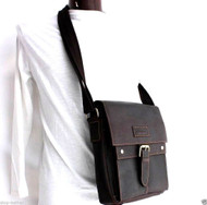 genuine Leather men Bag Messenger for iPad air retro cross body Shoulder Satchel 12 free shipping