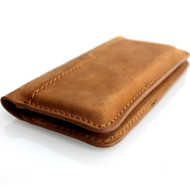 genuine leather case for iphone 5 4 5s  5c c book wallet cover s retro handicraft