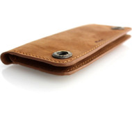 genuine leather case for iphone 5 4 5s  5c SE book wallet cover s retro handicraft