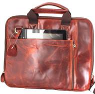 Genuine Leather Shoulder Satchel Bag handbag for macbook air 11 12 13 14 laptop pro