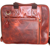 Genuine vintage Leather Shoulder Bag handbag for macbook air 11 12 13 14 laptop pro retro brown Satchel crossbody
