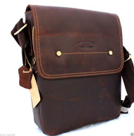 genuine Vintage Leather mens Bag Messenger for iPad air Shoulder Satchel School free shipping