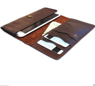 genuine leather Case for galaxy s5 and htc one m8 lg g3 wallet cover handcraft 5 luxury