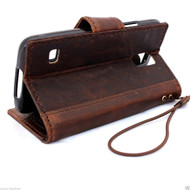 genuine italian leather case fit samsung galaxy s5 hard cover purse pro wallet stand luxury s 5