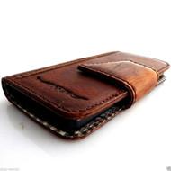 genuine italian leather Case for HTC ONE book wallet handmade cover ID flip  m7 skin slim retro